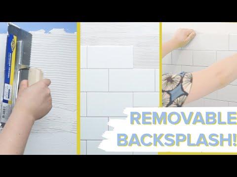 Removable Tile Backsplash For Renters