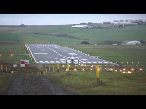 SAAB 340(Flybe) Taking off from Kirkwall Airport, Orkney Islands