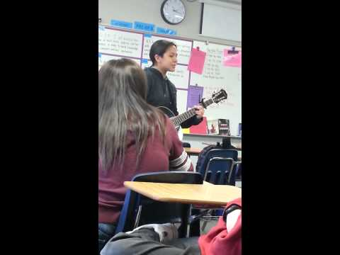 Amazing girl in our E.L.A class can sing!!!!