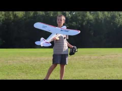 Maiden flight and crash! HobbyZone Super Cub S RC airplane