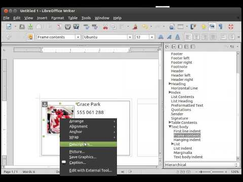 How to Create a Business Card with LibreOffice in Ubuntu