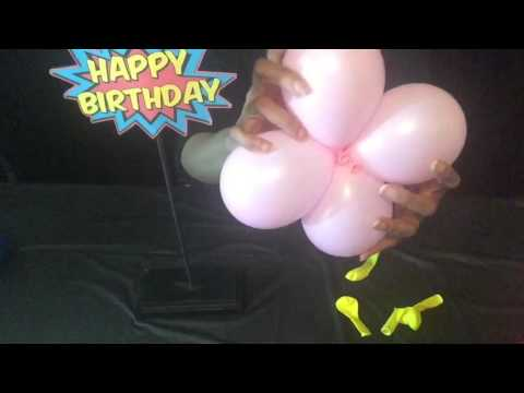 Tutorial Balloon Cluster Centerpiece For Diana Foster