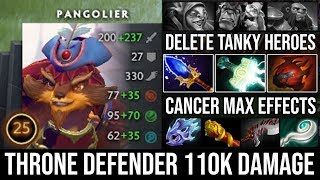 WTF 110k Damage [Pangolier] Throne Defending Beautiful Plays Cancer Effects Vs 3 Raid Boss Enemy