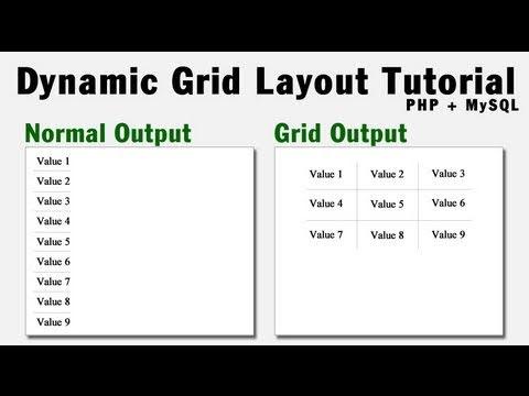 Dynamic Grid Output Programming Tutorial Using PHP + MySQL Array Data