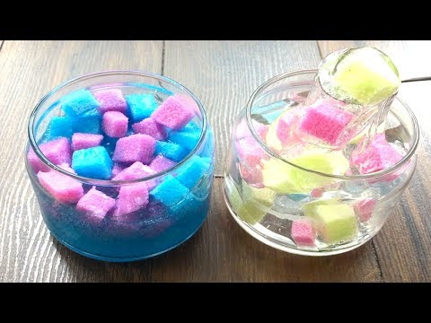 DIY How To Make Jelly Cube Slime!! Famous Clear Jelly Cube Slime Recipe Exposed