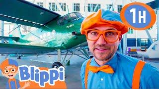 Blippi Visits The Children's Museum of Flight | Educational Videos For Kids