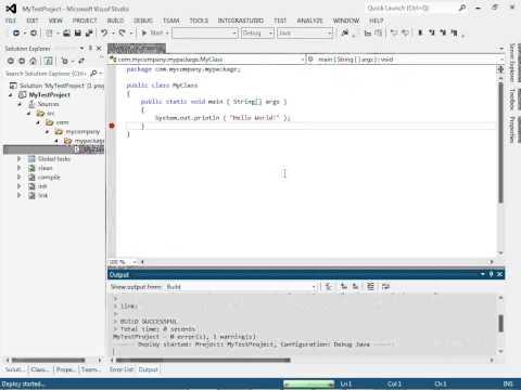 Java development under Visual Studio: simple Ant project