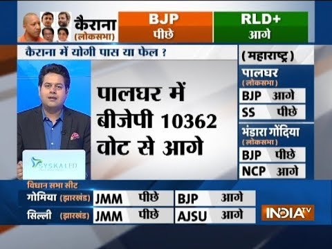 LS Bypoll Results: BJP lead by 10362 votes in Palghar, NCP lead by 3287 votes in Bhandara