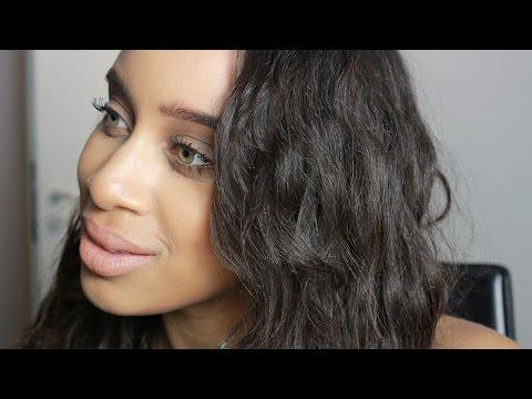 Heatless Curls On Relaxed Hair