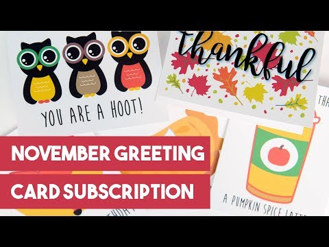 Oh, Hello Stationery November Greeting Card Subscription