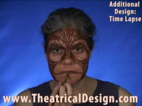 Theatrical Makeup: Alternative Design via time-lapse: Monkey