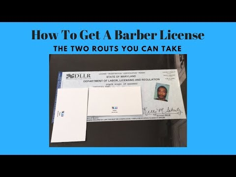 How to get a barber license