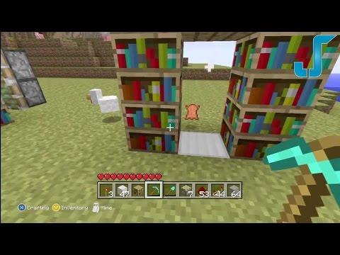 Minecraft Xbox: Secret Library Door [TUTORIAL] w/Pistons