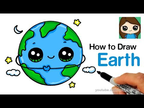 How to Draw Earth Easy and Cute