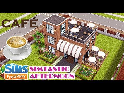 ☕ Café - Sims freeplay House design - Coffee shop  🍵🍪 Diseño de cafetería, 심즈 프리플레이 카페 디자인