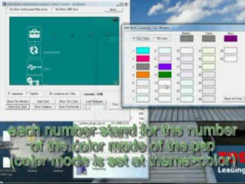 how to change the xmb text color of your psp How to make your own custom psp theme / themes PART 7