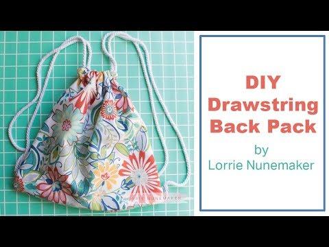 Drawstring backpack - DIY