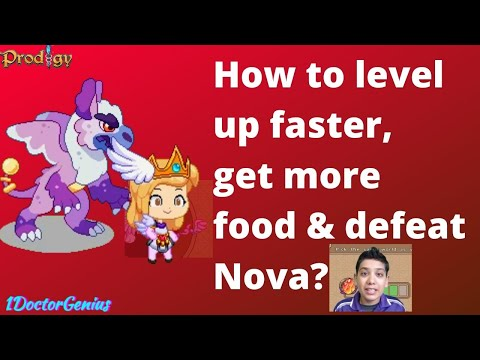 How to level up faster & get more food in Prodigy math game : Arena battle with Nova!!