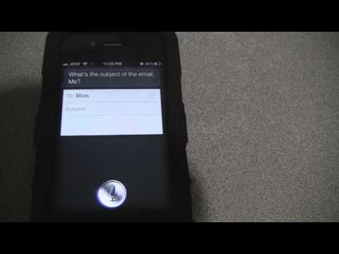 Email meets SIRI for the Iphone 4s