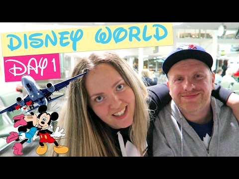 DISNEY WORLD COUPLE TRIP 2017 DAY 1: FLYING + DISNEY'S CARIBBEAN BEACH RESORT | Gillian At Home