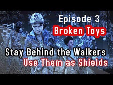 The Walking Dead Final Season - Stay Behind the Walkers Use them as Shields