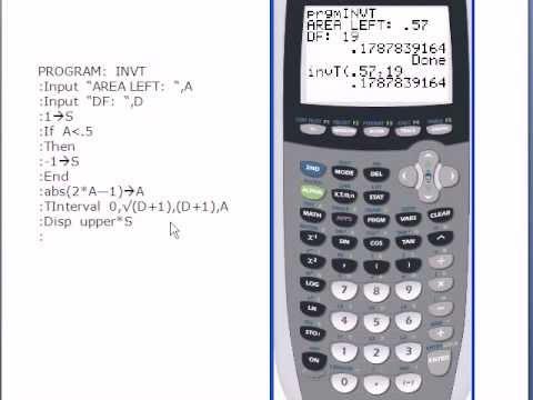 Programming invT into a Ti 83 or Ti 83+ Calculator