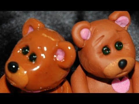 Teddy Bear. How to Make a Polymer Clay Teddy Bear by GOI