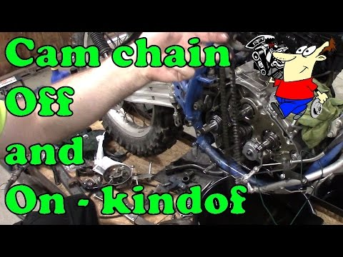 CAM CHAIN OFF AND ON