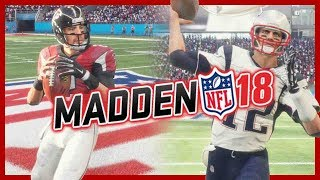 UNEDITED Madden 18 Gameplay | Patriots vs Falcons Broadcast Cam Madden 18 Gameplay