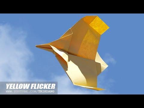 SIMPLE PAPER BIRD - How to make a Paper Airplane that Flies | Flicker Bird