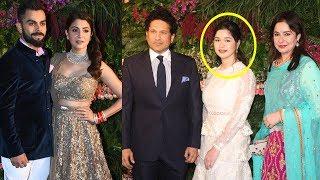 Sachin Tendulkar's With HOT Daughter Sara At Virat Kohli Anushka Sharma's Wedding Reception