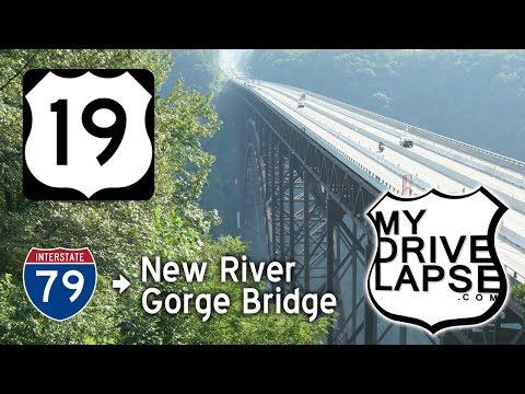 US 19 to Summersville, New River Gorge Bridge