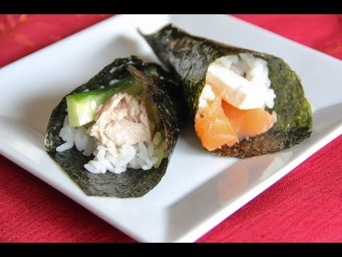 Hand Roll Sushi Recipe - Japanese Cooking 101
