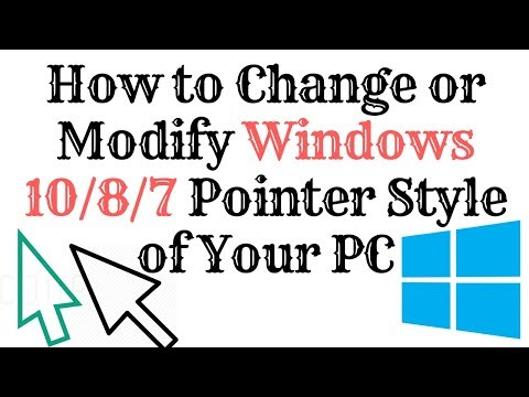 How to Change or Modify your Windows Pointer of Your PC