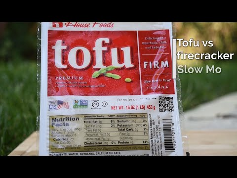 Tofu GO BOOM - Tofu Explodes in SLOW MOTION