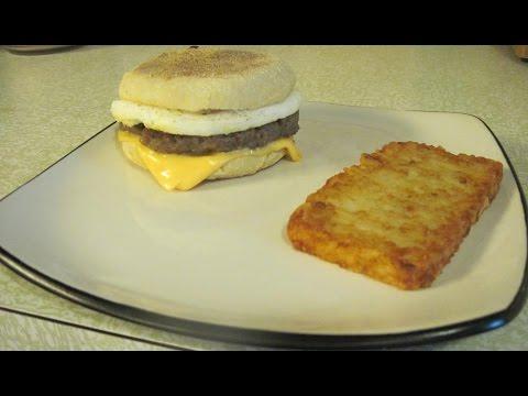 Home made sausage egg mc muffins