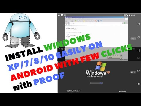 Install Windows Xp,7,8,10 On Android Easily and Fast Without PC- latest 2017