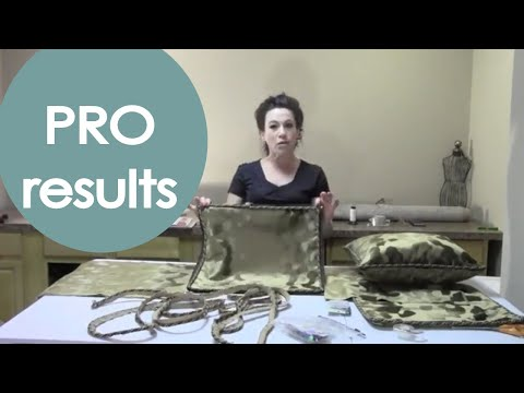 Sew Cording Into a Pillow Cover (how to) - Renee Romeo