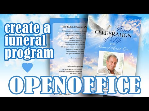 How to Customize a Funeral Program Template in OpenOffice Write