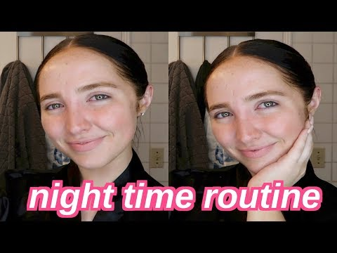 get unready with me   night time skincare routine