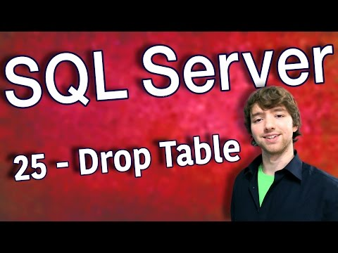 SQL Server 25 - Drop Table