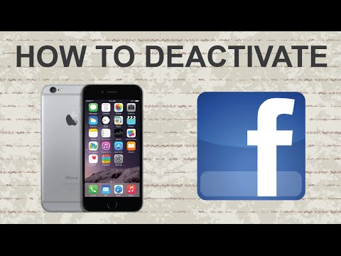 How to deactivate Facebook on mobile app