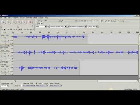 How To Copy And Paste Recordings Into One Track Using Audacity