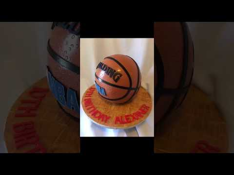 basketball cake tutorial - June 11, 2017