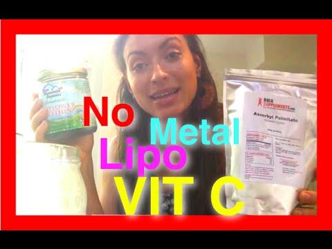 Liposomal Vit C with GLASS jar NO METAL!