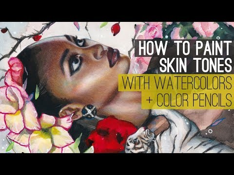 HOW TO PAINT SKIN TONES WITH WATERCOLOR + COLOR PENCILS