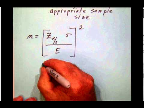 E 005 Choosing an appropriate sample size