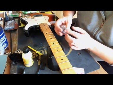 Strat Maple Fretboard Refinish - Part 2