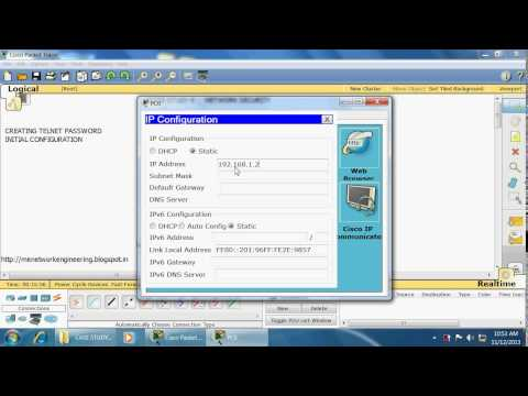 CASE STUDY 4 NETWORK SECURITY Part2 creating telnet password