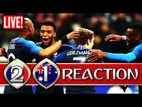 ►France 2-1 Australia - *LIVE REACTION* | 2018 FIFA World Cup Russia | #FRAAUS